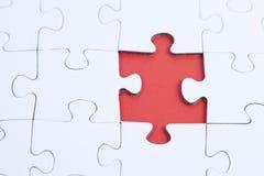 Ungelöstes Puzzlespiel Stockfoto