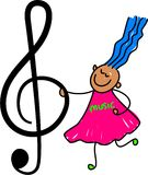 ungemusik royaltyfri illustrationer
