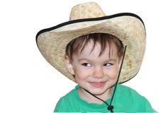 Ungen i en hatt Royaltyfria Foton
