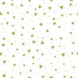 Ungen mönstrar Sömlös modell med små trianglar på en vit bakgrund Vektor som upprepar textur Fotografering för Bildbyråer