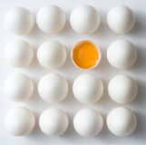 Ungerades Ei heraus Lizenzfreies Stockfoto