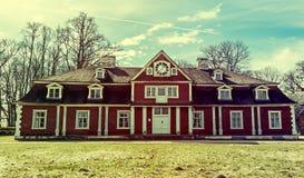 Ungermuizha庄园,拉脱维亚中央大厦  免版税图库摄影