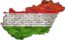 Ungernöversikt på en tegelstenvägg Fotografering för Bildbyråer