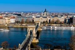 Ungern budapest, chain bro Arkivbilder