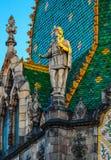 Ungern Budapest, del av garneringen av museet av Applied A Arkivfoto