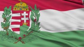 Ungern 1939 för flaggaCloseup för 1945 krig sömlös ögla stock video