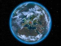 Ungern på natten på jord Royaltyfri Foto