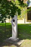 UNGERN SZENTENDRE: Monument till den ungerska kompositören fotografering för bildbyråer