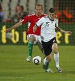 Ungern vs den vänliga fotbollleken för Tyskland arkivbilder