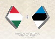 Ungern vs Estland, liga C, grupp 2 Europa fotbollcompetiti Royaltyfri Illustrationer