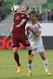 Ungern vs Ryssland vänskapsmatchfotbollsmatch Fotografering för Bildbyråer