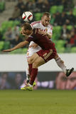 Ungern vs Ryssland vänskapsmatchfotbollsmatch Royaltyfria Foton