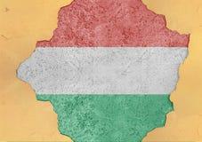 Ungernflaggaabstrakt begrepp i betong för agg för fasadstruktur stor skadad royaltyfria bilder