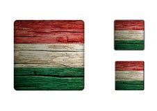 Ungernflaggaknappar Royaltyfri Fotografi