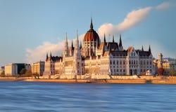 Ungernparlament, Budapest symbol Arkivfoton