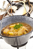 Ungersk gulasch med potatisen Fotografering för Bildbyråer