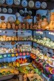 Ungersk handgjord keramik i byn Gyenesdias Arkivfoton