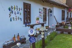 Ungersk handgjord keramik i byn Tihany Royaltyfri Fotografi
