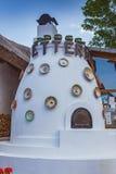 Ungersk handgjord keramik i byn Tihany Arkivbilder