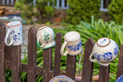 Ungersk handgjord keramik i byn Tihany Royaltyfria Bilder