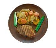 Ungersk maträtt av griskött royaltyfri bild