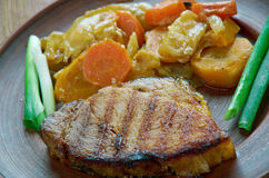 Ungersk maträtt av griskött royaltyfri foto
