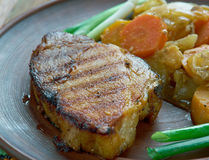 Ungersk maträtt av griskött royaltyfri fotografi