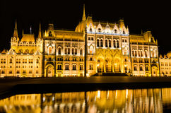 ungersk parlament Royaltyfri Bild