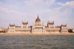 Ungersk parlament, Budapest, Ungern Royaltyfri Bild