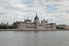 Ungersk parlament i Budapest Royaltyfria Bilder