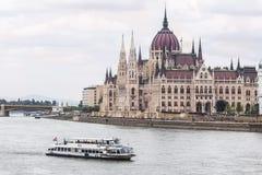 Ungersk parlamentbyggnad Fotografering för Bildbyråer