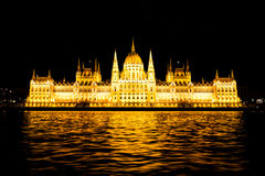 Ungersk parlamentbyggnad Arkivbild