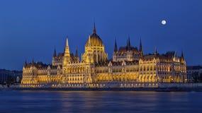 Ungersk parlamentbyggnad i Budapest, Ungern, HDR royaltyfri bild