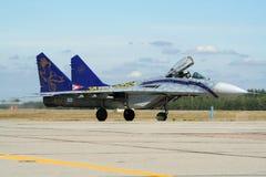 Ungersk stödjepunktjaktflygplan för flygvapen MiG-29 Arkivfoto