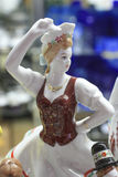 Ungersk staty av en dansare Arkivfoto