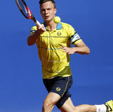 Ungersk tennisspelare Marton Fucsovics Arkivfoton
