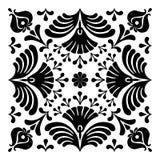 Ungerska motiv fyrkant-formas Royaltyfria Bilder