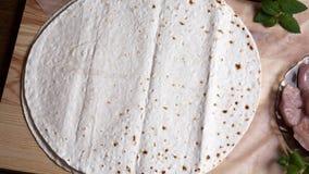 Ungesäuerter Weizenkuchen Stockfoto