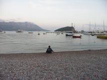 Ungesammanträde på stranden Fotografering för Bildbyråer