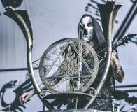 Ungetüm, Nergal, leben in Konzert 2017, schwarzes Metall Lizenzfreie Stockfotografie