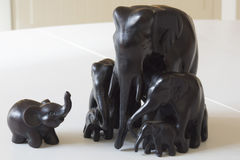 Ungewöhnliche Figürchen von Elefanten Lizenzfreie Stockfotos