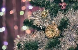 Ungewöhnliche Hemisphäre auf einem Weihnachtsbaum Lizenzfreie Stockbilder