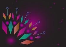 Ungewöhnliche Hintergrundblume gemacht von den geometrischen Formen Lizenzfreie Stockbilder