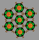 Ungewöhnlicher Blumenstraußvektor stock abbildung