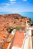Ungewöhnliches Basketballfeld in der alten Stadt von Dubrovnik Lizenzfreie Stockfotografie