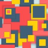 Ungewöhnliches modernes materielles quadratisches Design des Hintergrundes Lizenzfreie Stockfotos