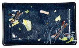 Ungewaschene Platte des gegessenen Salats   Lizenzfreie Stockfotos