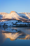 Ungino mountain peak reflection Stock Image