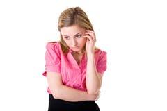 Unglückliche, deprimierte junge Frau, getrennt Lizenzfreie Stockfotos