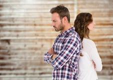 Unglückliche Paare, die zurück zu Rückseite stehen Lizenzfreies Stockbild